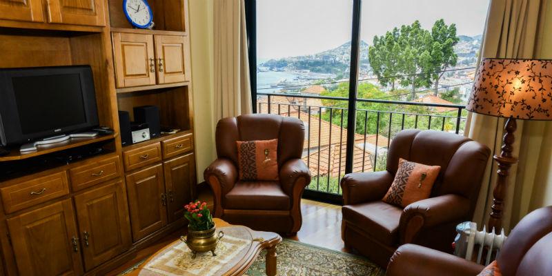 Palheiro Residence - Vista formidável da janela da sala de estar