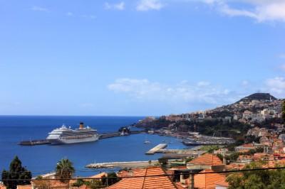 La vue vers Funchal à partir de la fenetre du salon